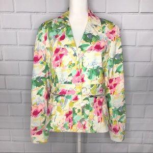 Carlisle Painted Floral Blazer/ Jacket (12)